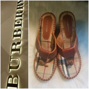 Burberry Shoes - AUTHENTIC BURBERRY WEDGE  SANDALS(sale)